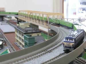 EF66とコキ10000系貨車の模型