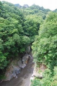 緑深い渓谷