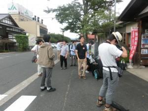 若桜駅にて解散