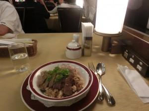 トワイライトエクスプレスのディナー