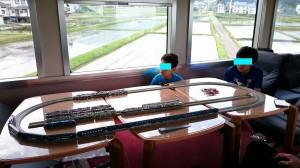 1号車の鉄道模型レイアウト